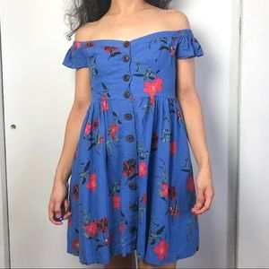 UO Floral Off Shoulder Dress